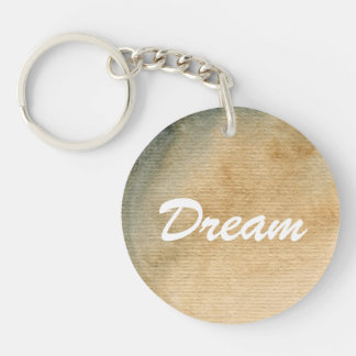 gray-blue background watercolor 7 Double-Sided round acrylic key ring