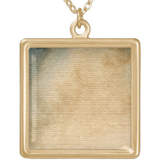 gray-blue background watercolor 7 gold plated necklace