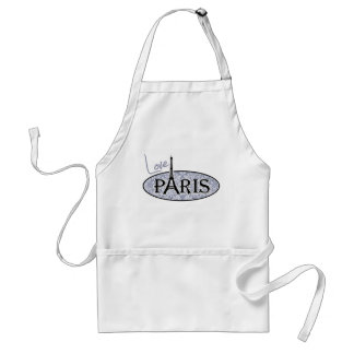 Gray-Blue Damask; Paris Standard Apron