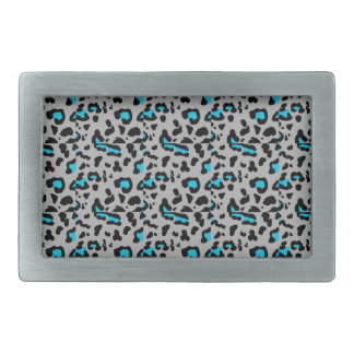 Gray & Blue Leopard Print Belt Buckles