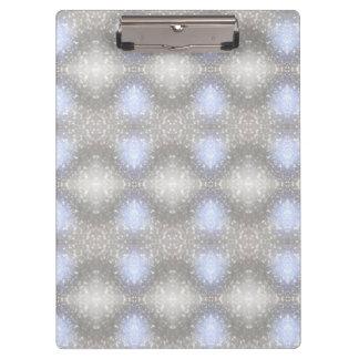 gray & blue pattern clipboard