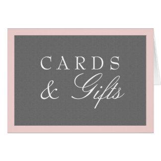 Gray & Blush Pink Cards & Gifts Wedding
