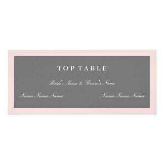 Gray & Blush Pink Top Table Plan Card