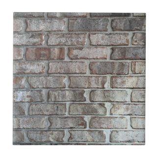 Gray Brick Wall Grunge Bricks Background Texture Small Square Tile