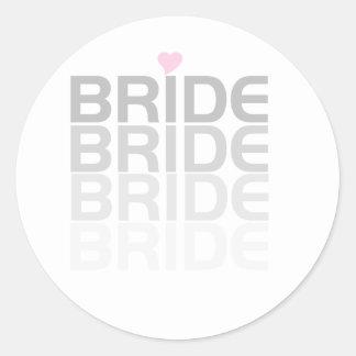 Gray Bride Fade Round Sticker