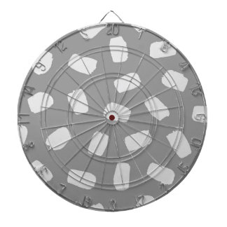 Gray Brushstrokes Dartboard