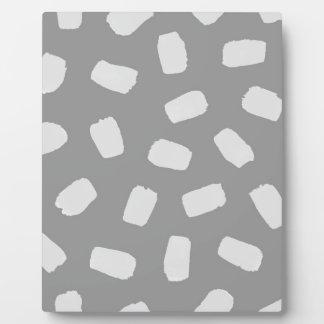Gray Brushstrokes Plaque