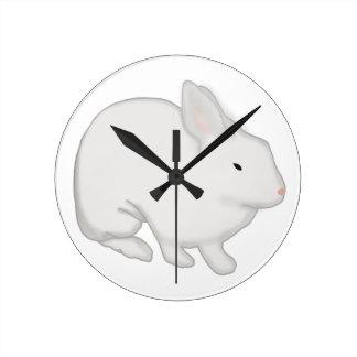 Gray Bunny Rabbit Wall Clock