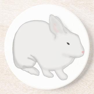 Gray Bunny Rabbit Drink Coaster