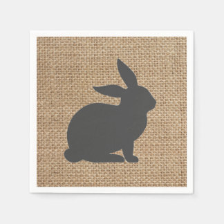 Gray Burlap Bunny // Napkins // Easter // Spring Paper Napkin