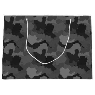 Gray Camouflage/Military/Hunter Camo Gift Bag
