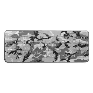 Gray Camouflage Wireless Keyboard