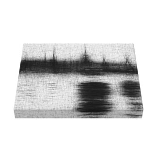 "Gray Canvas Sketch 14"" x 11"", 1.5"", Single Canvas Print"