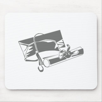Gray Cap Diploma Mouse Pads