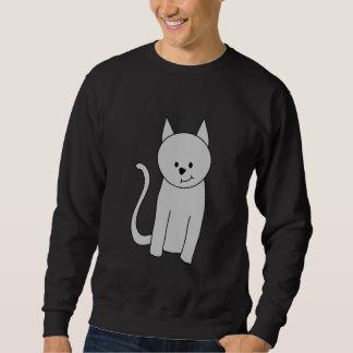 Gray Cat Cartoon. Sweatshirt