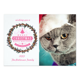 Gray cat christmas - Christmas cat -kitten cat Card