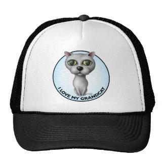 Gray Cat - I Love My Grandcat Trucker Hats