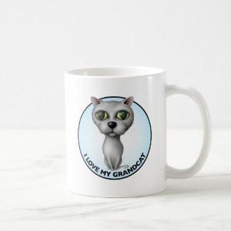 Gray Cat - I Love My Grandcat Coffee Mugs