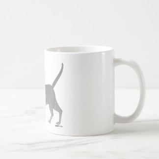 gray cat under the moon mugs