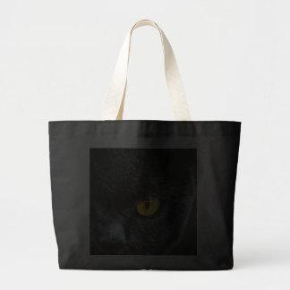 Gray Cat with Orange Eyes Canvas Bag