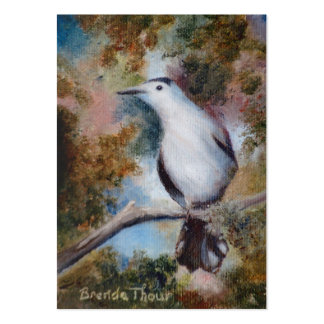 Gray Catbird ArtCard Pack Of Chubby Business Cards