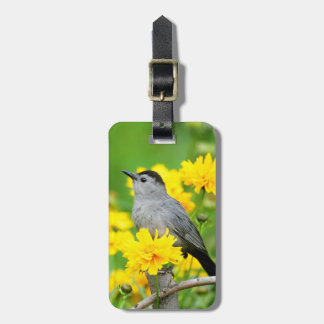 Gray Catbird on wooden fence Luggage Tag