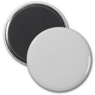 Gray #CCCCCC Solid Color 6 Cm Round Magnet