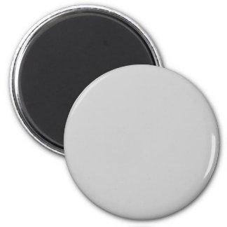 Gray #CCCCCC Solid Color 6 Cm Round Magnet