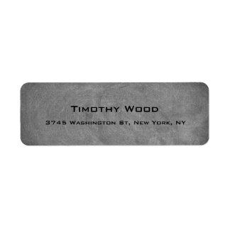 Gray Chalkboard Creative Professional Modern Return Address Label