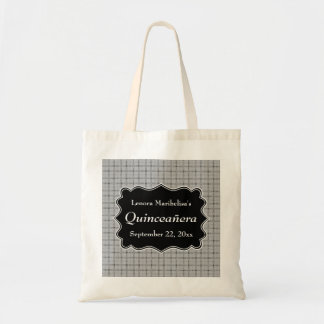 Gray Check Pattern Quinceanera Canvas Bags