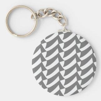 Gray Checks Key Chains
