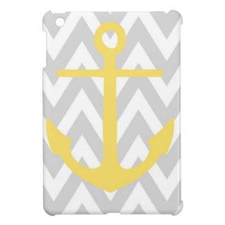 Gray Chevron Anchor Cover For The iPad Mini