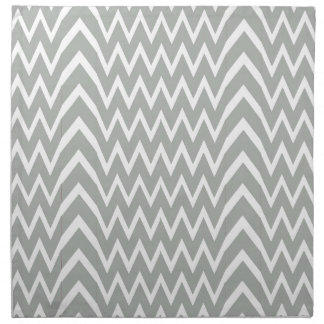 Gray Chevron Illusion Napkin