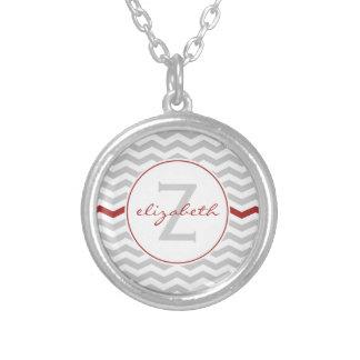 Gray Chevron Monogram Jewelry