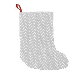 Gray Chevron Pattern Small Christmas Stocking