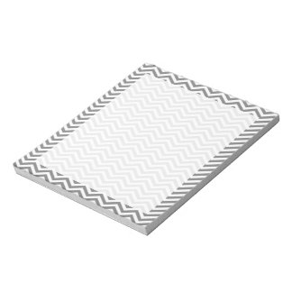 Gray Chevron Stripes Notepad