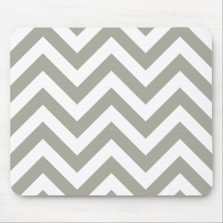 Gray  Chevrons Zig Zag Pattern Mouse Mat