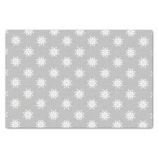 Gray Christmas white snowflakes Tissue Paper
