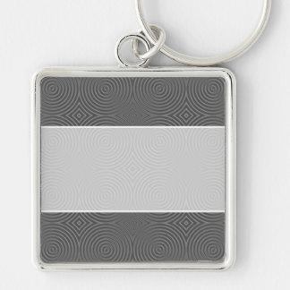 Gray circles design Modern Pattern Keychains