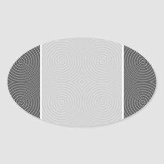 Gray circles design. Modern Pattern. Oval Sticker