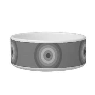 Gray Circles Pattern. Bowl