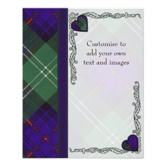 Gray clan Plaid Scottish kilt tartan 11.5 Cm X 14 Cm Flyer
