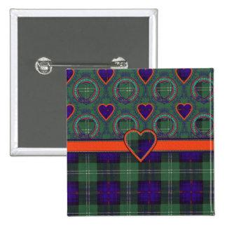 Gray clan Plaid Scottish kilt tartan 15 Cm Square Badge