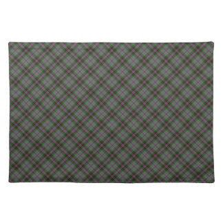 Gray Clan Tartan Designed Print Placemat