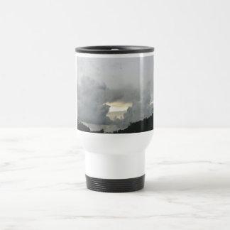 Gray clouds travel mug