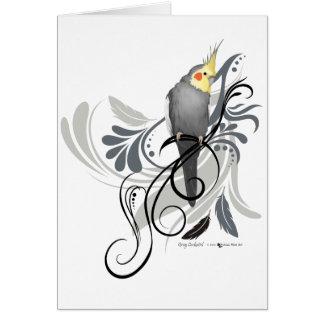 Gray Cockatiel Card