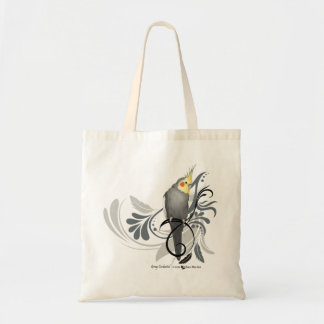 Gray Cockatiel Tote Bag