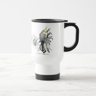 Gray Cockatiel Travel Mug