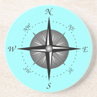 Gray Compass Rose Coaster