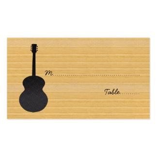 Gray Country Guitar Place Card Pack Of Standard Business Cards